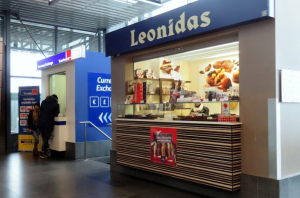 meeting point Charleroi airport LEONIDAS CHOCOLATE SHOP